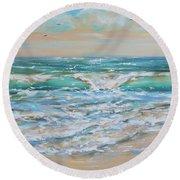 Gulf Wave Round Beach Towel