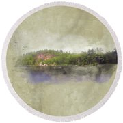Gull Pond Round Beach Towel