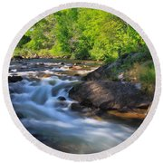 Gull River Falls - Gunflint Trail Minnesota Round Beach Towel
