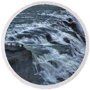 Gullfoss Waterfall #6 - Iceland Round Beach Towel