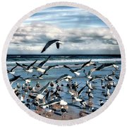 Gulls Round Beach Towel