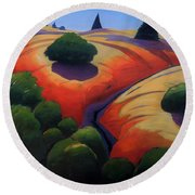 Gully Round Beach Towel by Gary Coleman