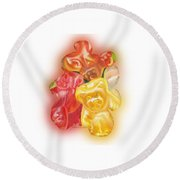 Gummy Bear Round Beach Towel