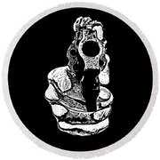 Gunman T-shirt Round Beach Towel