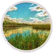Gunnel Oval By Paint Round Beach Towel