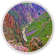 Gunnison River Round Beach Towel