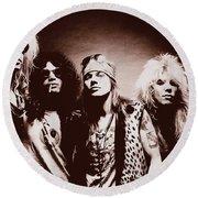 Guns N' Roses - Band Portrait 02 Round Beach Towel