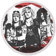 Guns N Roses Graffiti Tribute Round Beach Towel