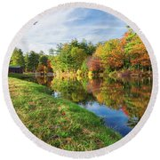 Gunstock Pond Round Beach Towel