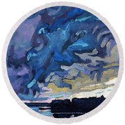 Gust Front Round Beach Towel