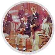 Guy Lombardo The Royal Canadians Round Beach Towel