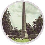 Gwaltney Monument In Smithfield Va Round Beach Towel by Melissa Messick