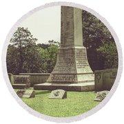 Gwaltney Monument In Smithfield Virginia Round Beach Towel by Melissa Messick