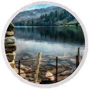Gwynant Lake Round Beach Towel