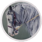 Gypsy Cob Mare-milltown Fair Round Beach Towel