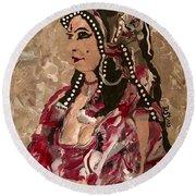 Gypsy Dancer Round Beach Towel