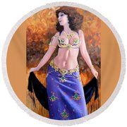 Gypsy Round Beach Towel