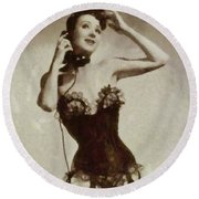 Gypsy Rose Lee Round Beach Towel