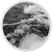 Round Beach Towel featuring the photograph H2O by Alex Lapidus