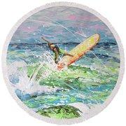 H2ooh Round Beach Towel by William Love