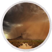 Haboob Is Coming Round Beach Towel