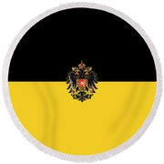 Habsburg Flag With Imperial Coat Of Arms 3 Round Beach Towel