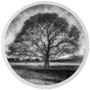 Hagley Tree 2 Round Beach Towel