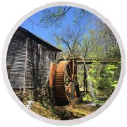 Hagood Mill Historic Site Gristmill Round Beach Towel
