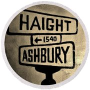 Haight Ashbury Round Beach Towel by Dany Lison