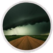 Hail Shaft Round Beach Towel