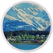 Haines - Alaska Round Beach Towel