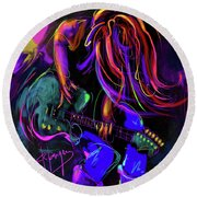 Hair Guitar 2 Round Beach Towel by DC Langer