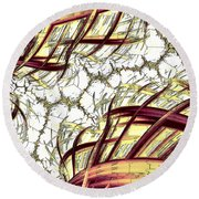 Hairline Fracture Round Beach Towel