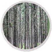 Hairy Forest Round Beach Towel