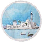 Haji Ali Mumbai Round Beach Towel