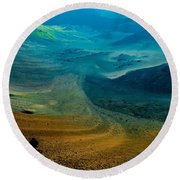Round Beach Towel featuring the photograph Haleakala by M G Whittingham