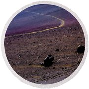 Round Beach Towel featuring the photograph Haleakala 2 by M G Whittingham