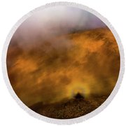 Round Beach Towel featuring the photograph Haleakala Halo by M G Whittingham