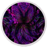 Half Believing Round Beach Towel