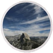 Half Dome Sky Round Beach Towel