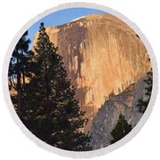Half Dome Sunset Round Beach Towel