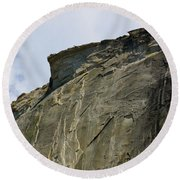 Half Dome With A View Of The Visor  Round Beach Towel