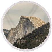 Half Dome Yosemite Valley Yosemite National Park Round Beach Towel