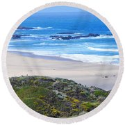 Half Moon Bay Round Beach Towel