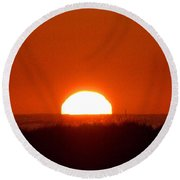 Half Sun Round Beach Towel by  Newwwman