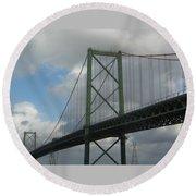 Halifax Bridge Round Beach Towel