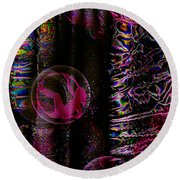 Hall Of Dreams Round Beach Towel