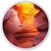 Hall Of Fire Round Beach Towel