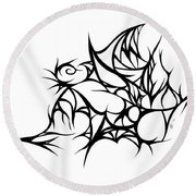 Hallow Web Round Beach Towel
