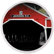 Round Beach Towel featuring the photograph Halloween In Jackson by Barbara S Nickerson